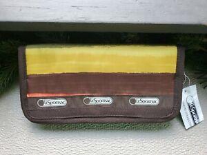 Lesportsac Long Wallet NWT Nordstrom /Japan- Multicolor, pockets, Zipper Close