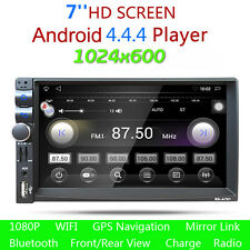 RAM 1G GPS Android 4.4 2-DIN HD Car Stereo MP5 Player 7 Inch Bluetooth FM Radio