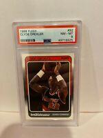 1988 Fleer Clyde Drexler Portland Trailblazers Basketball Card HOF PSA NM-MT 7