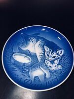 Bing & Grondahl Annual Mother's Day plate 1971 (Cat & Kittens) IN ORIGINAL BOX
