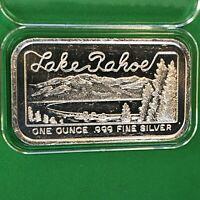 Lake Tahoe SilverTowne 1 Troy Oz .999 Fine Silver Ag Collectible Ingot Bar 999