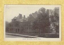 CT Bristol 1908-29 Antique postcard HIGH SCHOOL CONN Education