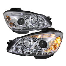 Mercedes Benz 08-11 W204 C-Class DRL LED Chrome Projector Headlights Lamps