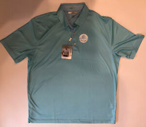 Greg Norman ML75 Men's Play Dry Cooling Fabric Light Blue Golf Shirt  XL/ XLarge