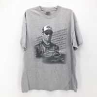 Jimmie Johnson 48 Chase Authentics Mens Graphic Tee Gray Black Short Sleeves XL