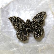 """2 Perles Spacers """"Papillon filigrane""""  BRONZE - 18X26 MM -  Sans trous"""