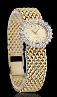 Cyma 14k Yellow Gold Ladies Quartz Watch 2.00ct Diamond Bezel