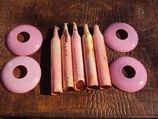lot de quatre coupelles et cinq fausse bougies de lustre 19 ème