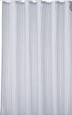 New Home Classics Semi Sheer Lightweights Blue & White Strips Shower Curtain