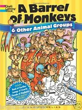 Barrel of Monkeys Animal Adult Colouring Book Creative Art Therapy Creatures