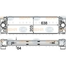 ORIGINAL HELLA Ladeluftkühler Mercedes Sprinter Bj. Bj.09- 8ML376777-401