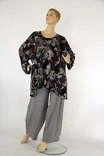 Mehrfarbige Langarm Damenblusen, - tops & -shirts mit V-Ausschnitt