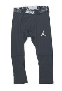 Nike Alpha Dry 3/4 Pant Basketball Tight Men's L Jordan AJ1910 Anthracite Gray