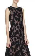 $3,295 Marni 2017 Black Embroidered Floral Lace Overlay Dress IT 40 Fits 4/6