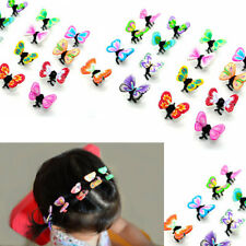 USA 36pc Assorted Mini Butterfly Hair Snap Clamp Clip Claw Scallop Girl Baby Lot