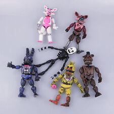 Five Nights At Freddy's FNAF Freddy Fazbear Bear Doll Action Figures Toys 6Pcs