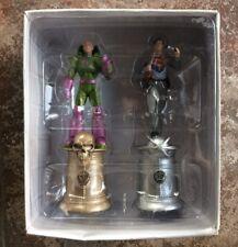 COLLEZIONE di scacchi DC Superman & LEX Luther King Speciale Set Figure in resina in scatola