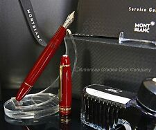 MONTBLANC Burgundy 146R  F.P 14k gold (M) NEW- NEVER INKED - ALL ORIGINAL BOXES!