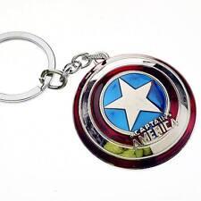 Hot Marvel Comics Super Hero Captain America The Avengers KeyRing Keychain