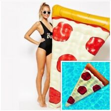 MATERASSINO GONFIABILE PIZZA PISCINA MARE IDEA REGALO UOMO DONNA DIVERTENTE fico