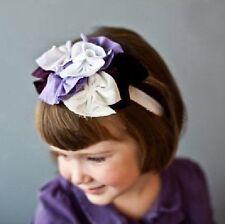 bébé enfants Bandeau fleurs blanche Violet Pétales pour Cheveux Fille Bijoux de
