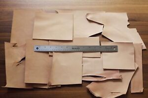 LARGE size 1lb Leather Scraps, Vegetable Tanned Leather, Tooling Remnants