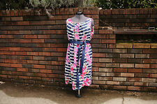 Motherhood Maternity dress XL extralarge womens navy white pink pretty!!