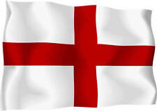 English St. George Wavy Flag Car Scooter Exterior Vinyl Sticker Decal England