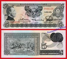 HONDURAS 5 Lempiras 1976 Pick 59b  SC / UNC