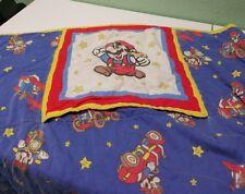 vintage mario blanket that turns into pillow self store blanket BG