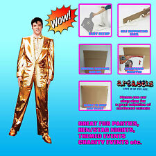ELVIS GOLD LAME SUIT LIFESIZE CARDBOARD CUTOUT STANDEE STANDUP SC318