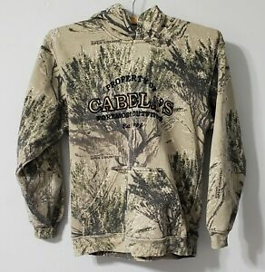 Cabelas Open Country seclusion Camo Hoodie Boys Size Large Sweatshirt