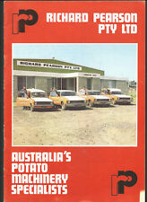 PEARSON GRIMME POTATO HAVESTER PRODUCTS CATALOGUE 16 page sales brochure
