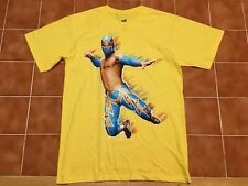 WWE Wrestling Sin Cara Yellow T Shirt New Official Merch Adult size Medium