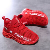 Kids mesh Sneakers Light Breathable Easy Walk Casual Sport Shoes for Boys Girls