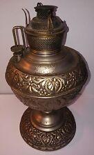Antique Rare Brass MILLER Kerosene Oil Lamp embossed made in USA
