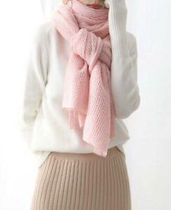 Clearance- Ladies Wool Scarf -Pink