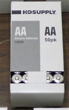 Lot Of 50 Hd Supply Aa Alkaline Batteries Good Until 2025 Free Shipping