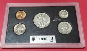 1946 US MINT COIN SET BU 90% Silver Gorgeous Coins