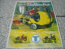 1964 Vintage TRAILMAKER  Snowmobile Brochure Tractor