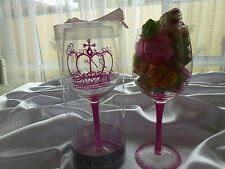 Clearance 21st Birthday Girl Wine Glass comes in a box &150gr soy melts candles