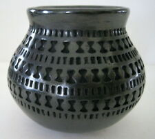 "Black Cut Out Pot Black on Black  Sofia de Tena 4.5""  Mata Ortiz Casas Grandes"