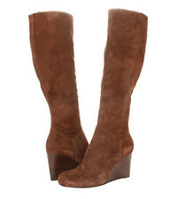COLE HAAN CORA WEDGE BOOT CHESTNUT SUEDE 11 B $398 NEW WITH BOX  NIKE AIR