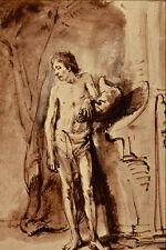 501055 Standing Male Nude Rembrandt Harmenszoon Van Rijn A4 Photo Print