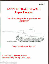 Panzer Tracts 20-1 (Paper Panzers)   German AFV book   by Jentz & Doyle new sb