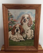 Vintage Paint By Number Cocker Spaniel Dogs/Puppies Framed 10x14