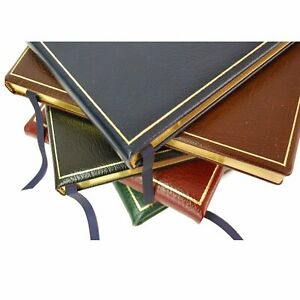 Quality Leather Guest Register Book, 7 by 9, Name, Date, Address, Charing Cross