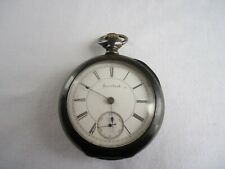 Watch - Dueber Sterling Silver Case Antique R.W. Co. Rockford, Ill. Pocket