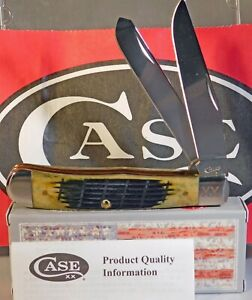 CASE XX OLIVE GREEN FENCE ROW JIGGED BONE 6254 SS 4 1/8 INCH TRAPPER 16020 NEW