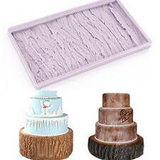 Tree Bark Silicone Fondant Mould Cake Decoration Tool Craft Paste Border Mold 3D